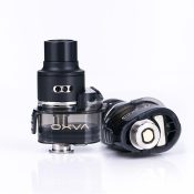 The Origin X Pod RBA Tank By Oxva is a rebuildable dripping tank atomizer pod, specially designed for the Origin X Pod Mod Kit. The Origin X RBA adopts an innovative L-shaped structure design. Refilling is done by opening the silicone stoppered exposed filling port next to the RDA part. It adopts hydraulic pressure to feed the cotton for perfect wicking. Origin X RDTA Pod has a raised build deck that is used for good support of double coils and also has easy access to build like the RDA. The build deck is a postless build deck with 4 deck based terminals, side secured via hex screws, supporting both dual coils and single coil. OXVA Origin X available here.